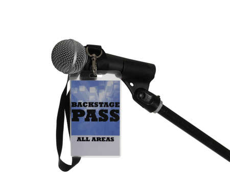 For the stage area you only get a backstage pass access. Stock Photo - 9953642