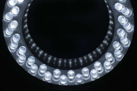 LEDs arranged circular in front of a dark background. Stock Photo - 10826926