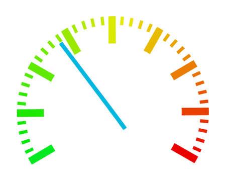 indicatore: Su una scala da un valore viene visualizzato con un puntatore.