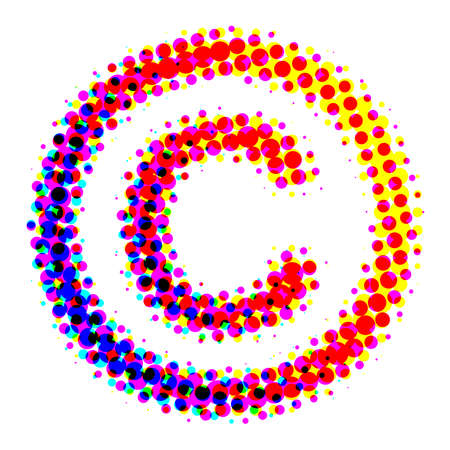 The copyright symbol should be the users of a copyrighted work pointed to the existence of copyright. Stock Photo - 11971470
