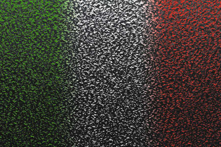 On a metal surface is made by colored light a national flag Stock Photo - 12672879