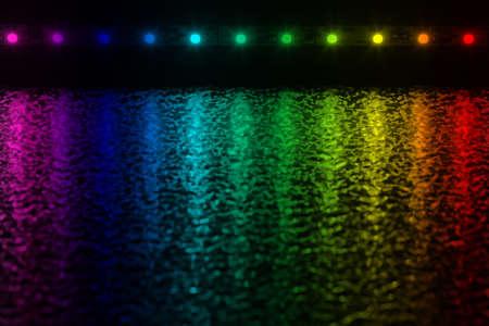 effets lumiere: Avec les LED peuvent �tre les effets de lumi�re tr�s int�ressantes sont produites Banque d'images