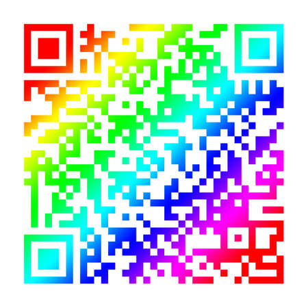 spectral colour: The QR-code is used for marking of assemblies and components