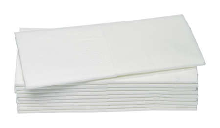 handkerchiefs: Ten white paper handkerchiefs are on one another  Stock Photo