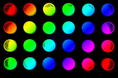 24 colorful LEDs radiate into space  photo
