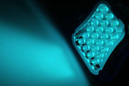 leds: 24 blue LEDs shine on a surface