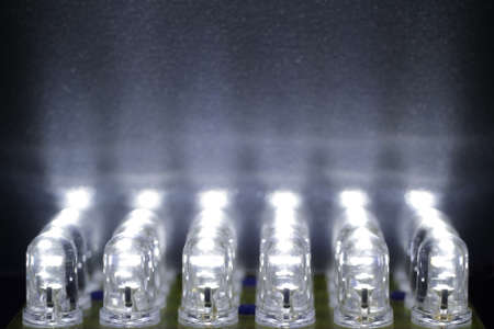 lighting effects: 24 white LEDs shine on a surface
