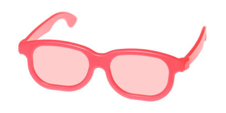 Through rose-colored glasses the world looks much more optimistic  Stock Photo