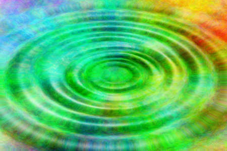 At a colorful water surface are shown circles  Stock Photo - 13429640