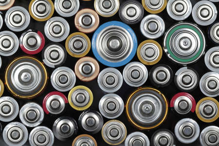 Several batteries are next to each other Stock Photo - 14453656