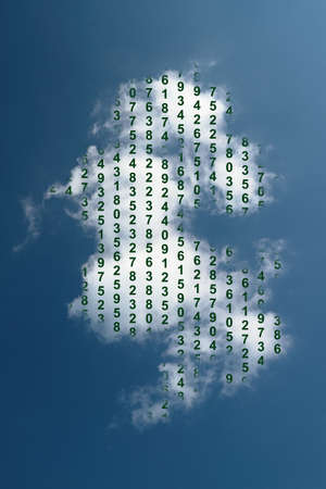 The picture shows a symbol of cloud computing, the sharing of resources in a computer network  photo