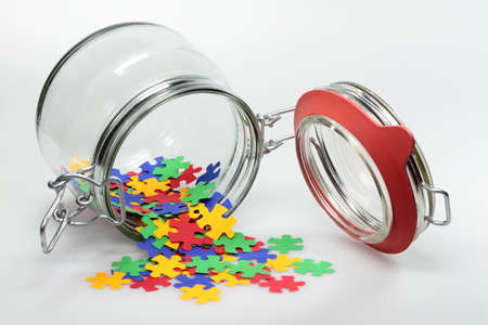 cohesion: From a jar puzzle elements are distributed