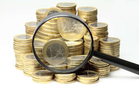 vitreous: About 300 Euro coins lie on a stack