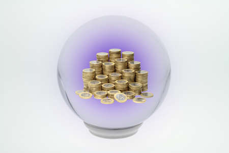 Through a crystal ball, you can see into the future Stock Photo - 15901699