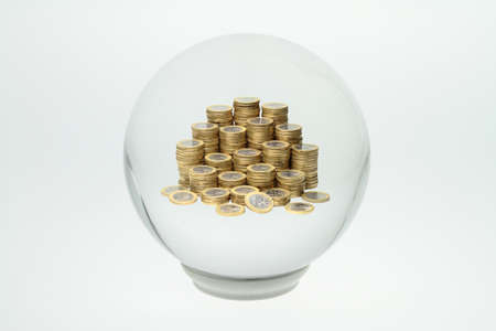 Through a crystal ball, you can see into the future Stock Photo - 15901691