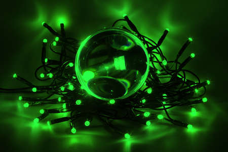 Chain of lights with LEDs create an atmospheric lighting Stock Photo - 16302783