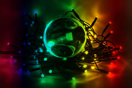 Chain of lights with LEDs create an atmospheric lighting Stock Photo - 16302776
