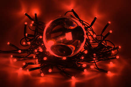 Chain of lights with LEDs create an atmospheric lighting Stock Photo - 16302779