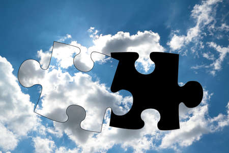 lacks: In a cloud lacks a matching parts of the puzzle