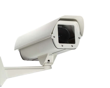 A new security camera isolated on a white background  Stock Photo