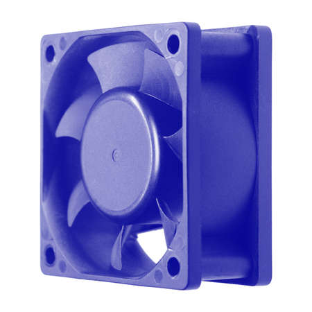 A small fan is used in computers for cooling