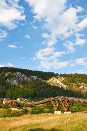 Wooden bridge over the Main-Danube Canal at essing in the Altm�hltal  photo