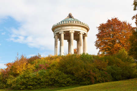 Monopteros in the English Garden with autumn Colors