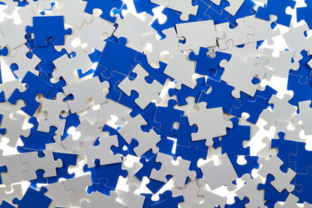 messed up: White and colored puzzle pieces are messed up