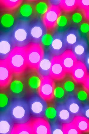 leds: LED strip with violet, green and blue LEDs