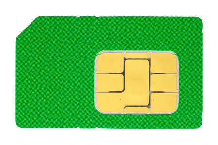 Macro shot of a SIM card against white background  photo