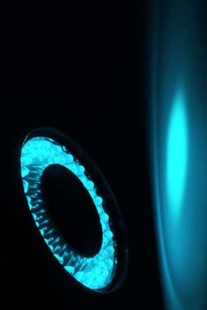 leds: LEDs dispuestos circular delante de un fondo oscuro.