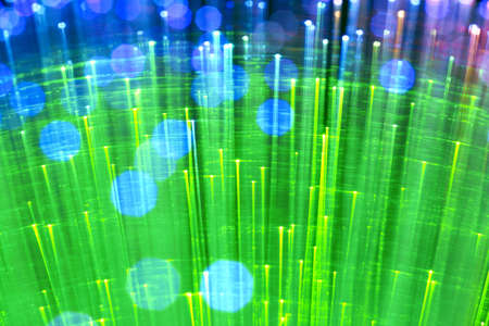 fiberoptic: In optical fibers the occurs colored light at the end.