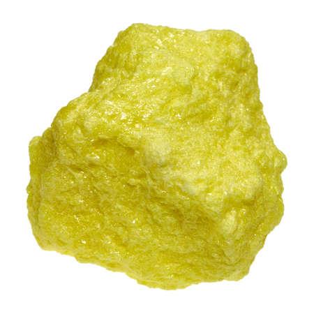 화학 원소 유황은 여섯째 주 그룹 주기율표이며 기간 번호 16을 갖는다. 스톡 콘텐츠