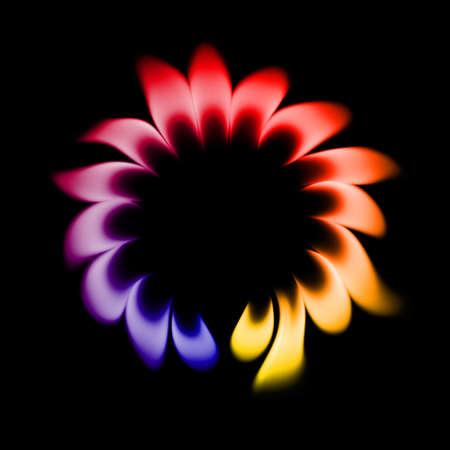 quemadura: Burn 16 luces sobre un fondo negro. Foto de archivo