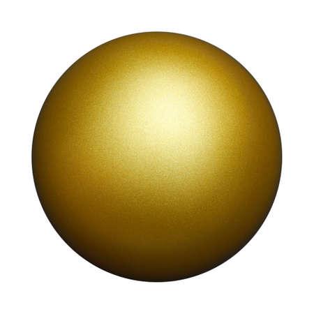 golden ball: An isolated golden ball against white background.