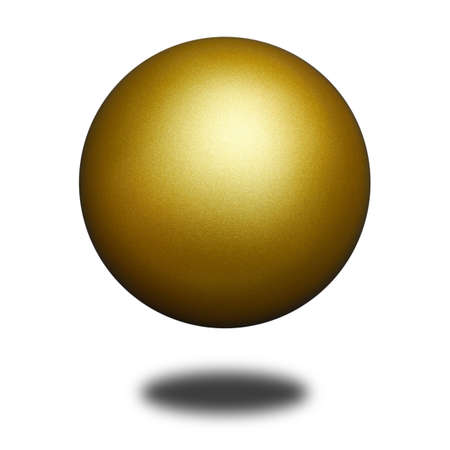 golden ball: An isolated golden ball against white background.