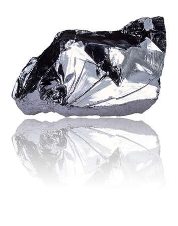silicio: El elemento químico silicio está en el sistema periódico en el cuarto grupo principal y tiene el número de período 14a. Foto de archivo
