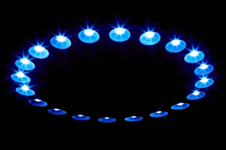 leds: LEDs Arranged circular in front of a dark background.