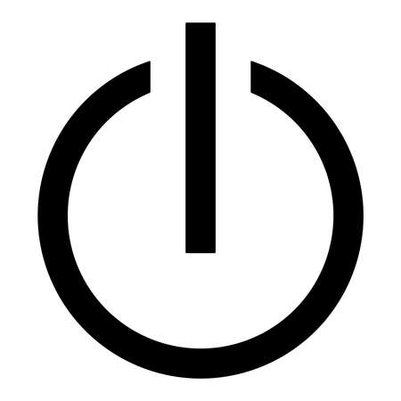 Symbol Of An On Off Switch Of Electrical Equipment Stock Photo