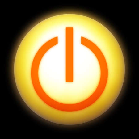 Symbol of an on-off switch of electrical equipment. Stock Photo