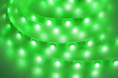 Light strip with light-emitting diodes as background.