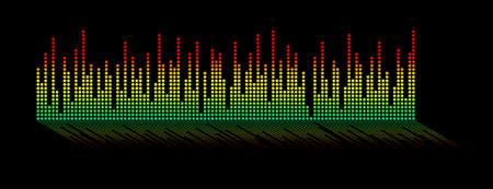 leds: Diagram with LEDs, isolated on black background.