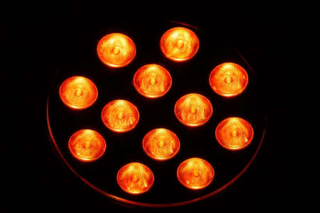 leds: A lamp with 12 single light emitting diodes.