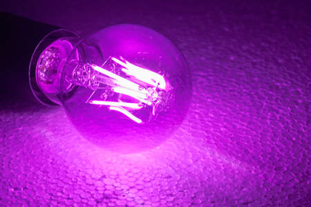 Spherical lamp that generates light with LEDs. Banco de Imagens - 109251437