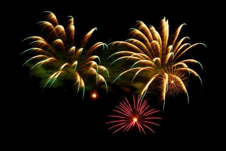 A great fireworks against black background in the night. Reklamní fotografie