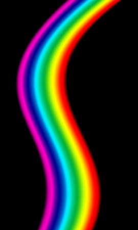The spectrum of the visible light forms an abstract figure.