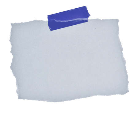 Small sticky note in front of white background.