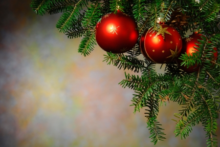 christmas sphere: Christmas ornaments on the Christmas tree