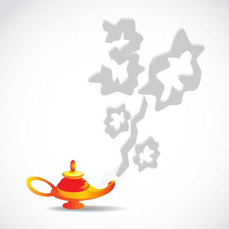 capturing: magic lamp with discount of smoke