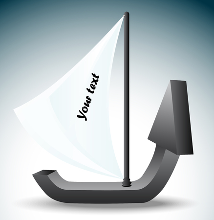 heave: The boat in the form of an arrow symbolizing growth and development
